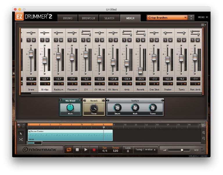There's onboard mixing plus effects