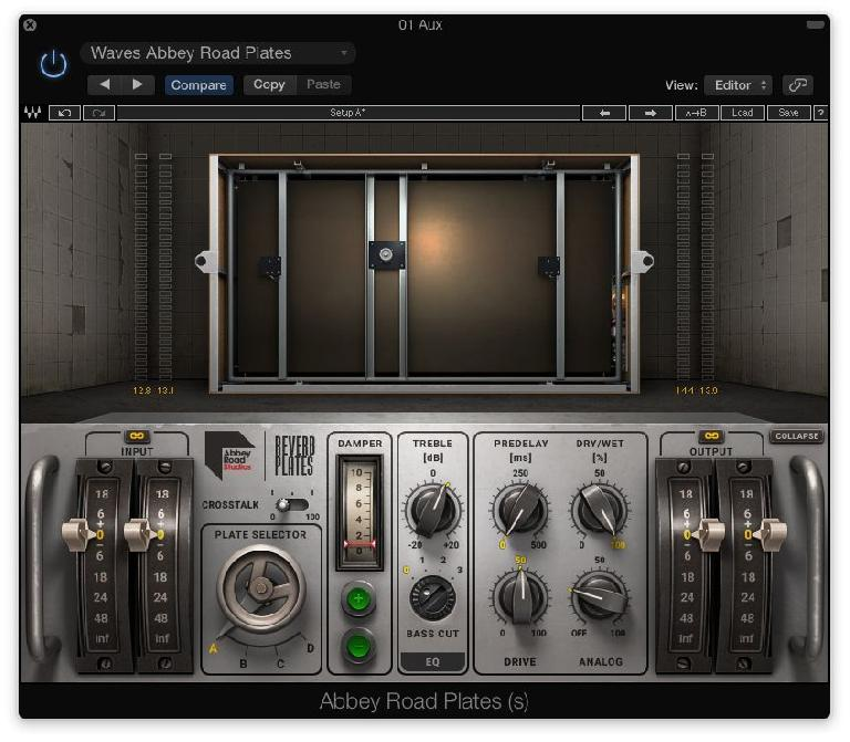 Fig 1 The Waves Abbey Road Reverb Plates plug-in