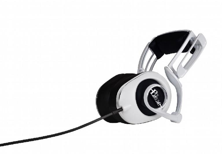 Blue Mics Lola slim-fit headphones (in white).