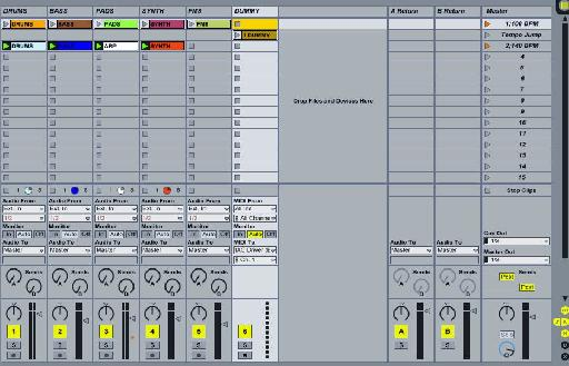Ableton Session View.