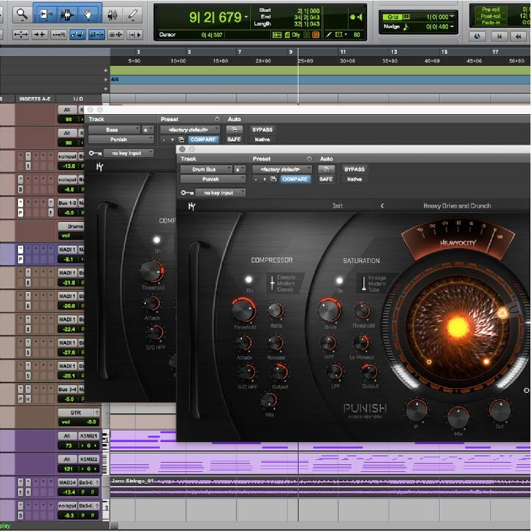 Heavyocity Punsh in a Pro Tools session.
