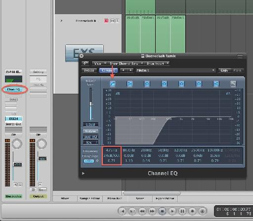 EQ settings for the snare.
