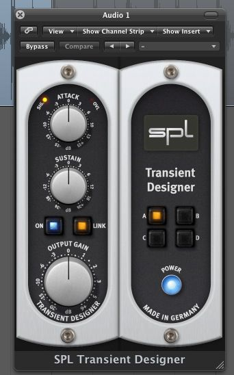 The Transient designer's simple interface