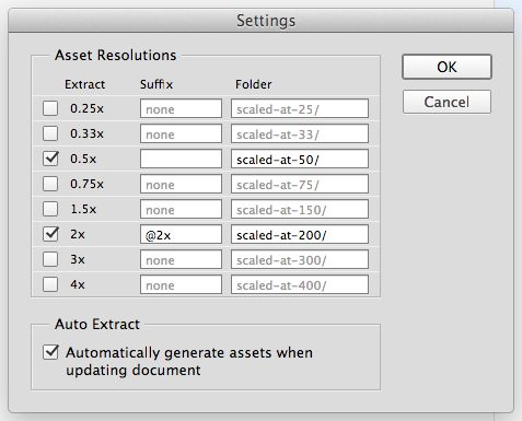 Extract Assets has a settings dialog if you need it.