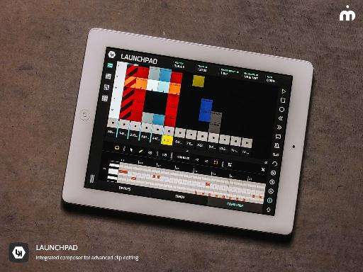 LK - Live Control's Launchpad Composer on iPad.
