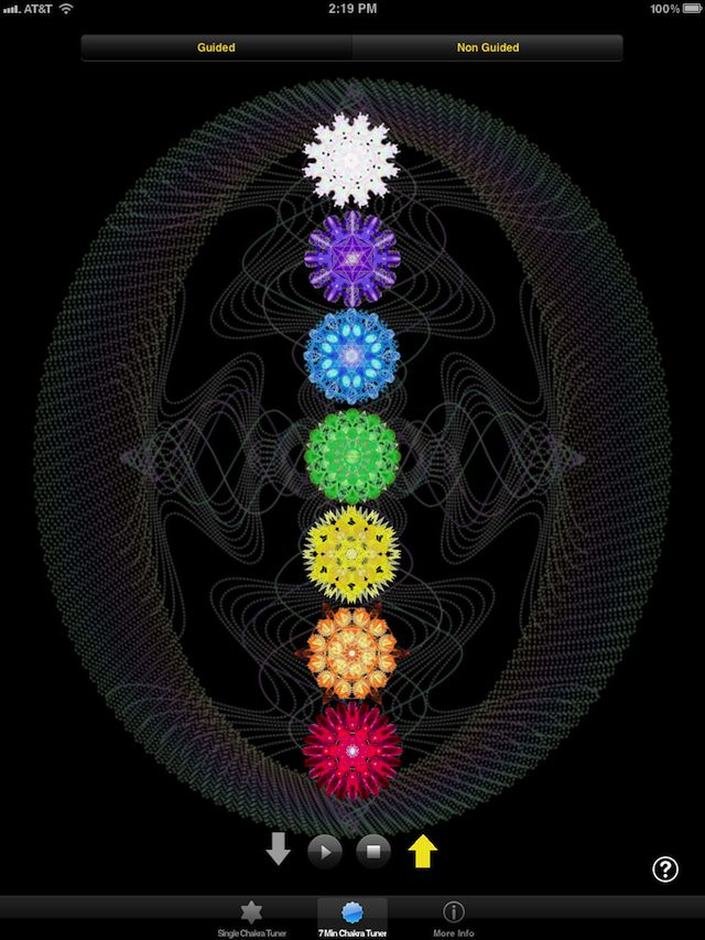 Jonathan Goldman's Chakra Tuning App for iOS