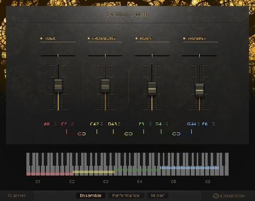 NI Symphony Series - Brass Solo Setup screen.