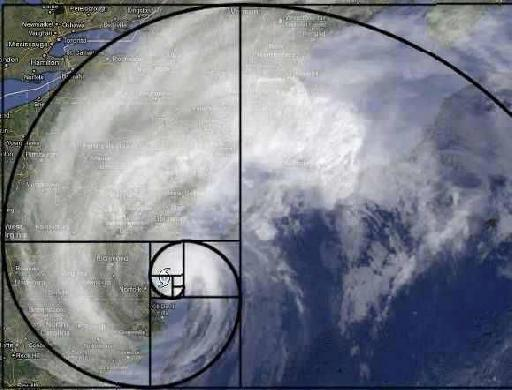 Hurricane Sandy Spiral separated into Segments