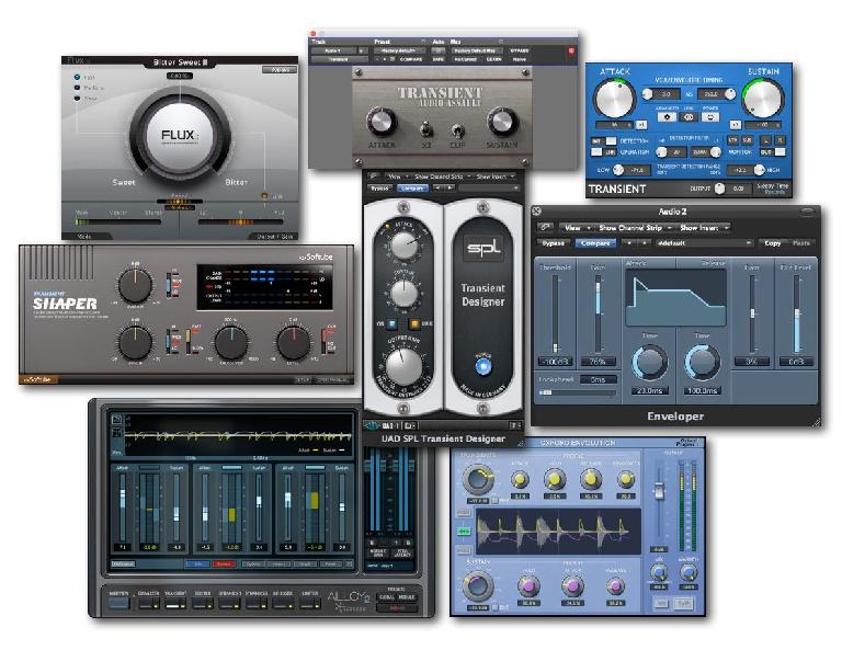 Fig 1 A collection of Transient Shaper plug-ins