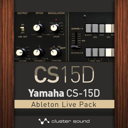 Cluster Sound CS15D Live Pack based on the original Yamaha CS-15D monophonic synth.