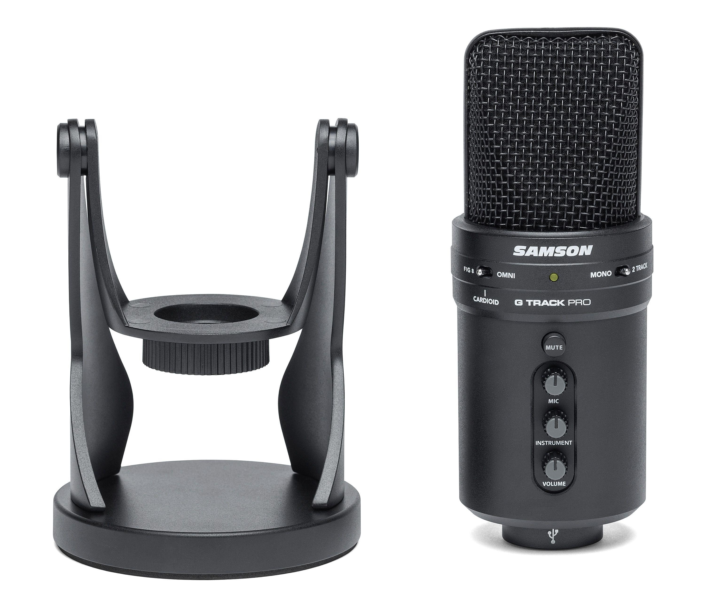 SAMSON G-Track Pro USB Recording Microphone+Built in Audio Interface+Headphones