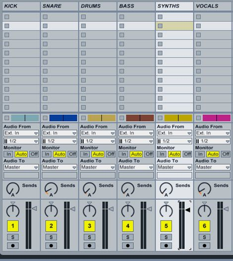 The audio stems