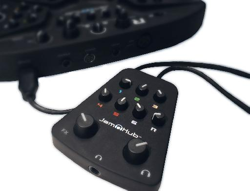 The SoleMix remote allows musicians who are physically further away from the JamHub to adjust their own mix.