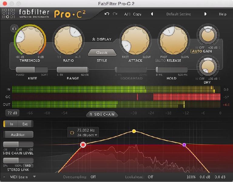 Fabfilter Pro C 2 interface