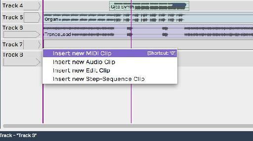 Insert MIDI Clip
