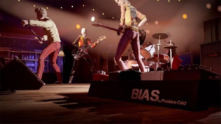 Rock Band 4 features BIAS amps from Positive Grid in the game.
