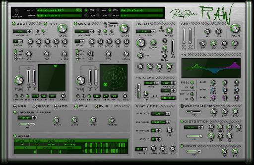 Rob Papen RAW FX page