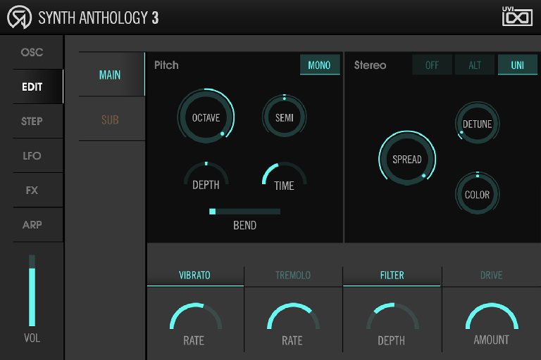 Synth Anthology 3 edit screen