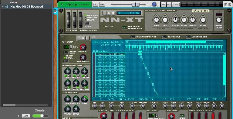 Pic 8: using NN-XT for Rex playback