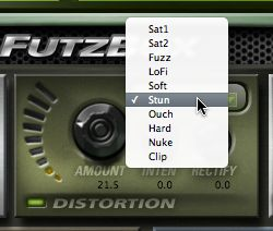 There are many distortion modes on offer.