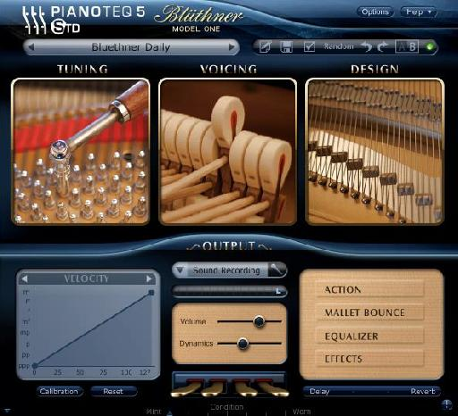 The Pianoteq interface.