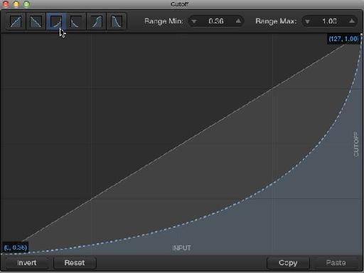 Change the filter scaling curve.