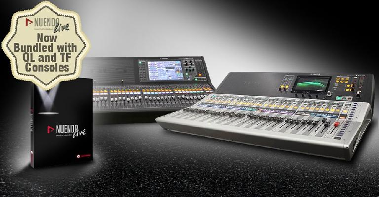 Yamaha QL and TF Consoles are now bundled with Nuendo Live.