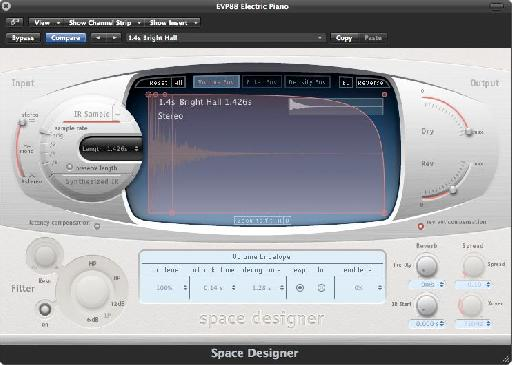 Logic Pro's own Space Designer