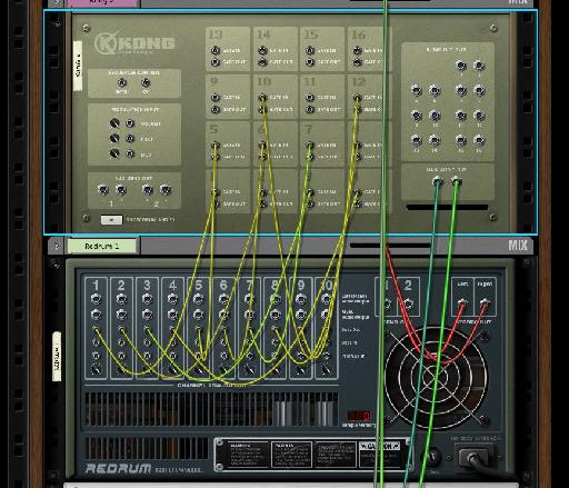 CV routings can be used to trigger drums as well as route modulators.
