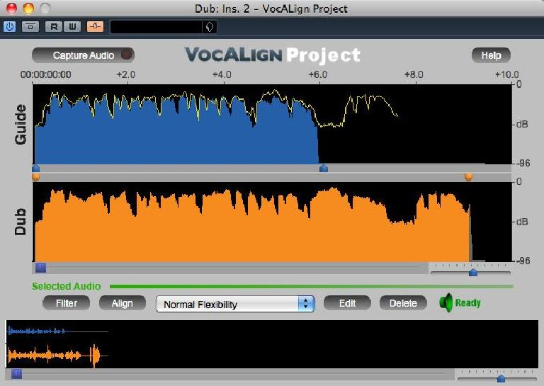 VocAlign Project 3 VST plug-in interface.