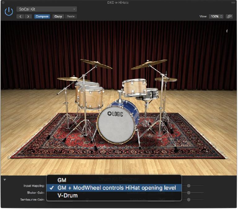 Logic DKD (Drum Kit Designer) options for drum & advanced hihat mapping