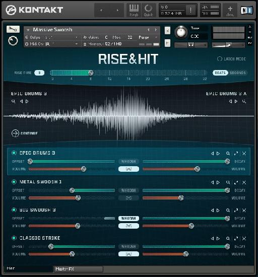 The Rise and Hit interface is fairly intuitive and easy to follow once you understand the general concept of the instrument.