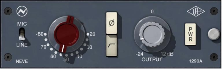 Universal Audio Neve Preamp plug-in.