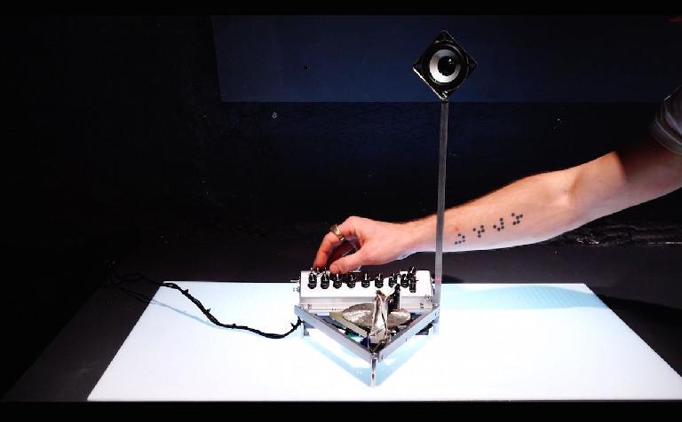 Ra, the pyrite laser-reading Arduino-based synthesizer
