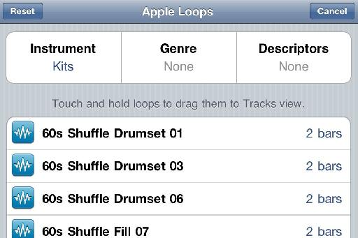 Loops in GB for iPhone