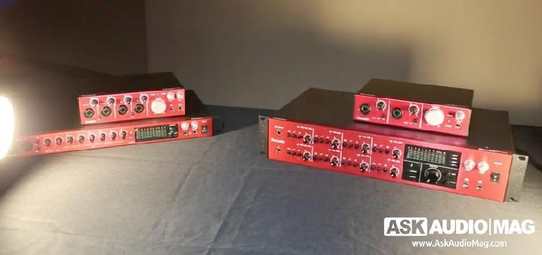 Focusrite Clarett audio interfaces