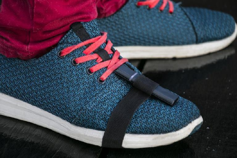 The sensors can attach to your shoes or other places too.