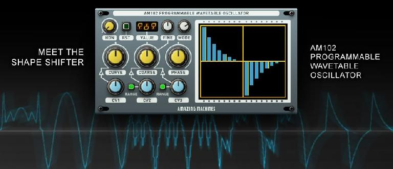 AM102 has an easy to use interface from which you can program your own waveforms.
