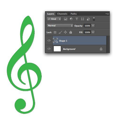 G-clef in Vector Shape