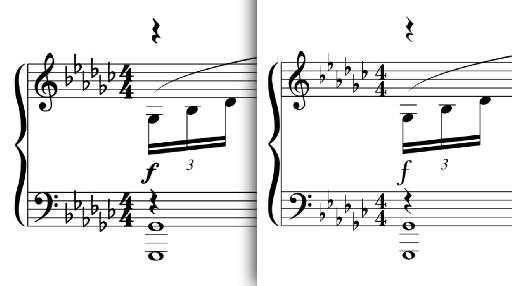 Figure 2: Bravura at left, Logic stock font at right.