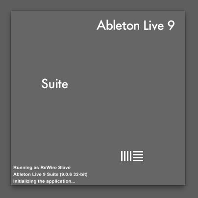 Ableton Live is running in ReWire Mode.