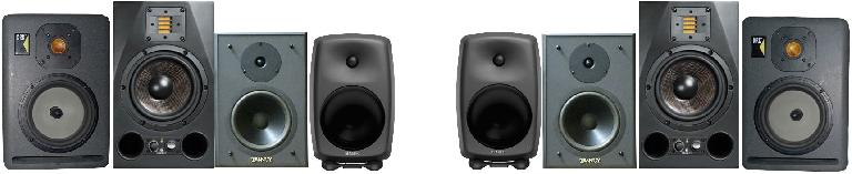 Fig 1 Various studio monitors