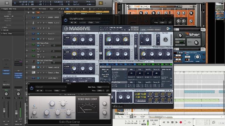 Logic Pro X and Reason in El Capitan. Split View is pretty cool when using ReWire! :)