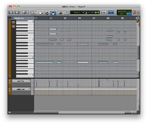 Pro Tools' MIDI Editor
