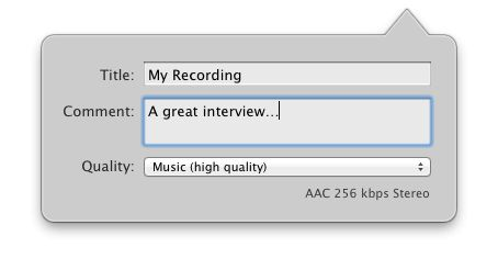 Add comments to recordings