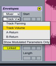 Automate track volume