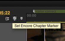 Set Encore Chapter Marker button.