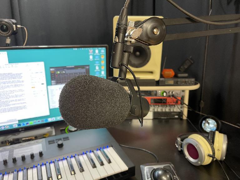 Shure SM7B dynamic broadcast microphone