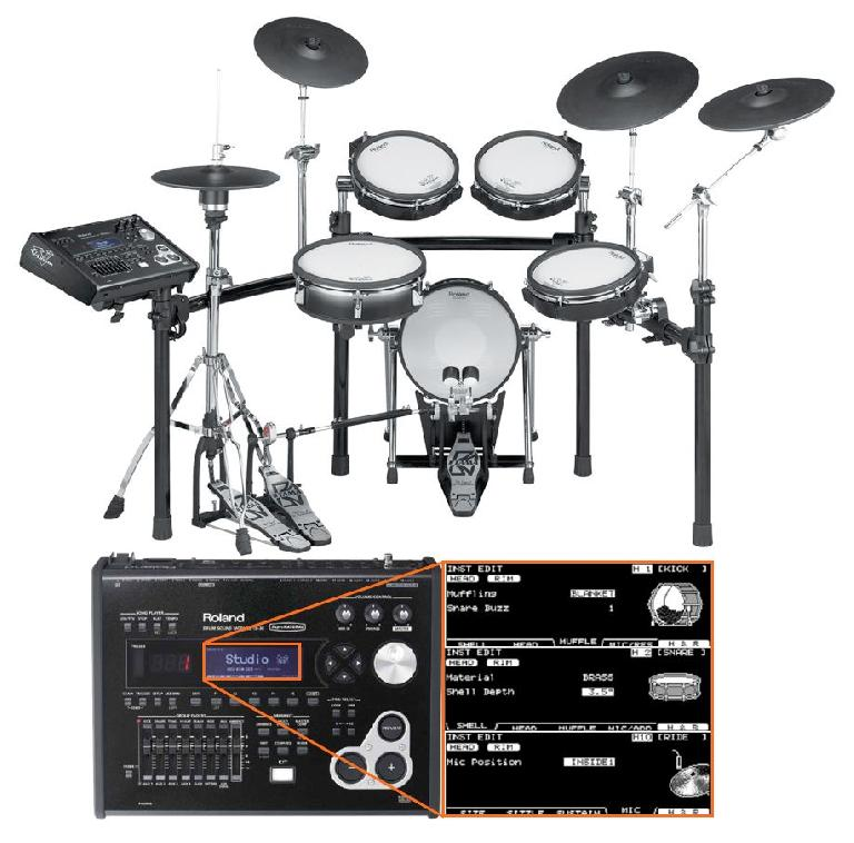 Roland V-Drums: kit and brain