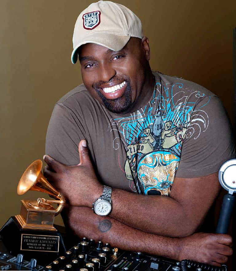 Frankie Knuckles, pictured here displaying knuckles